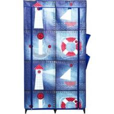 Гардероб текстильный Морской 870x460x1560 мм  с карманами
