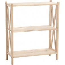 Стеллаж деревянный 70х30х86 см ольх 3 полки