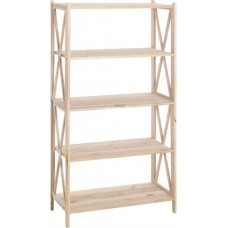 Стеллаж деревянный 80х40х160 см ольх 5 полок