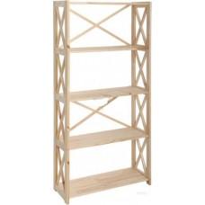 Стеллаж деревянный 80х30х160 см сосна 5 полок