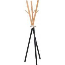 Вешалка стойка для одежды WY-175 черный металл/дерево