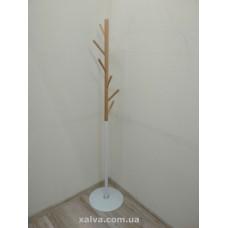 Вешалка стойка для одежды W175 белый металл/дерево