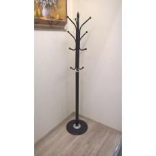 Вешалка стойка для одежды  на мраморной основе черная